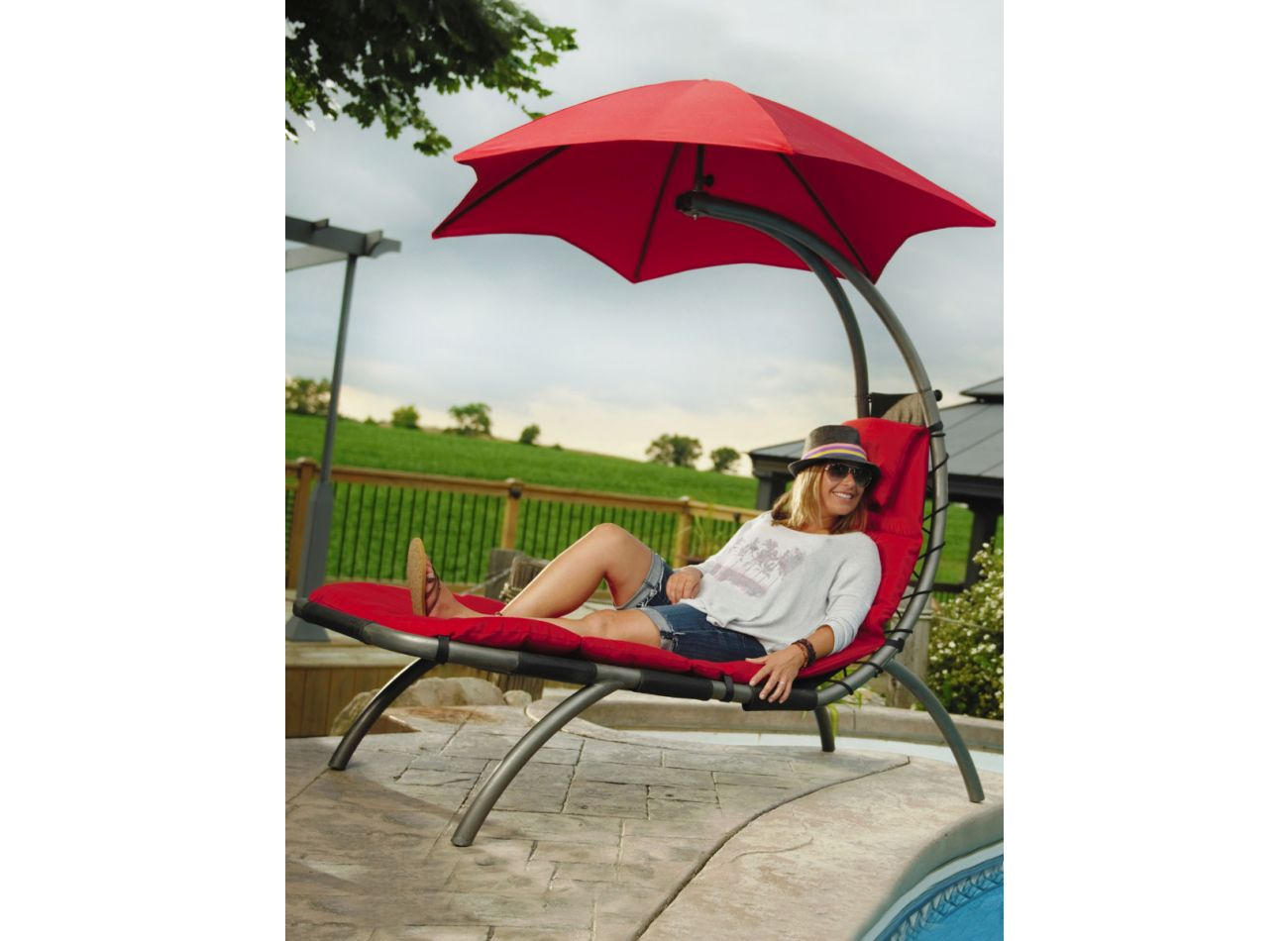 Original 1 Person Dream Lounger Red