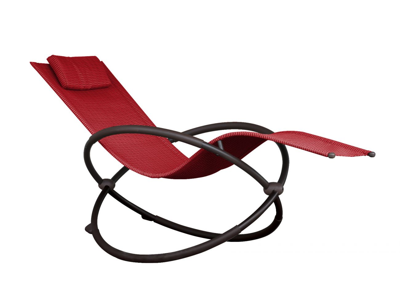 Schaukelstuhl 1 Person Orbital Lounger Red