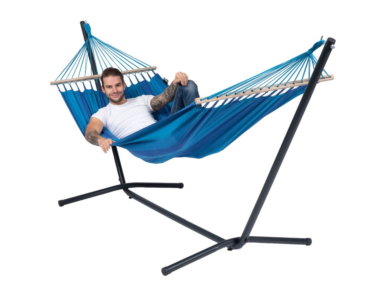 Hängematte mit Gestell 1 Person Easy & Relax Blue