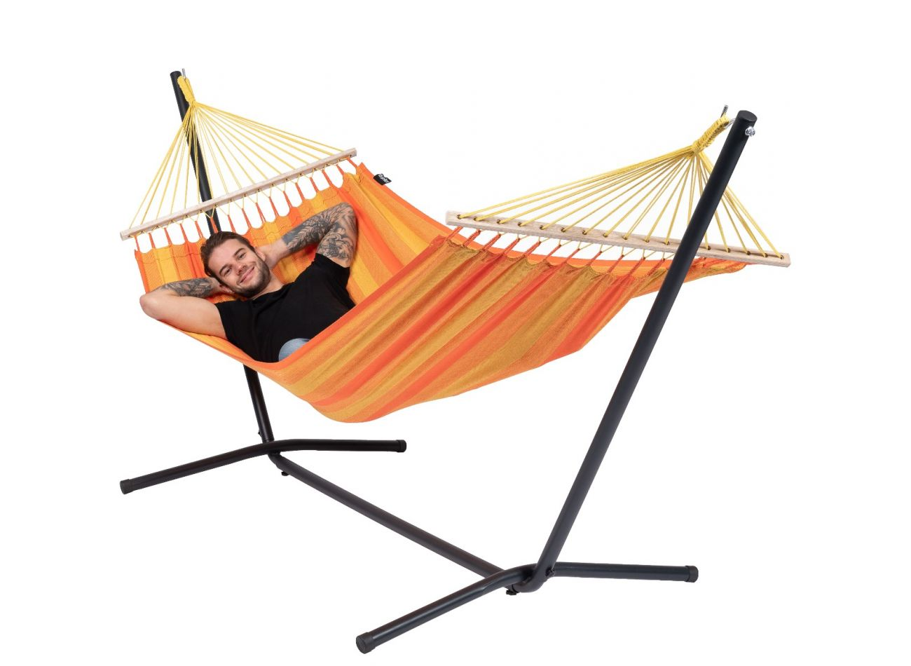 Hängematte mit Gestell 1 Person Easy & Relax Orange